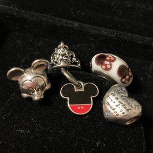 Authentic Pandora Disney Charm Bundle